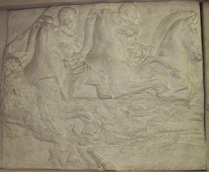 Dva konjanika- Partenon južni friz