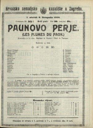 Paunovo perje Komedija u tri čina  =  Les plumes du paon