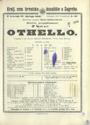 Othello Tragedija u pet činova  =  Othello, the Moor of Venice