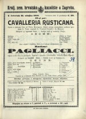 Cavalleria rusticana ; Pagliacci : Opera u jednom činu: Opera u dva čina sa prologom