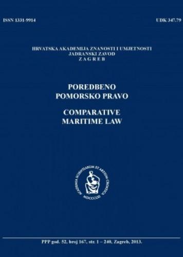 Br. 167(2013) = god. 52 : Poredbeno pomorsko pravo