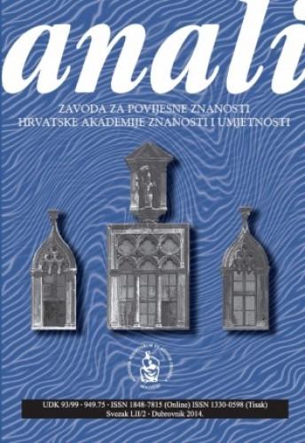 Sv. 52/2 (2014) : Anali Zavoda za povijesne znanosti Hrvatske akademije znanosti i umjetnosti u Dubrovniku