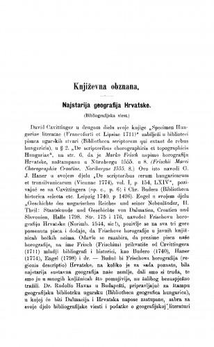 Najstarija geografija Hrvatske