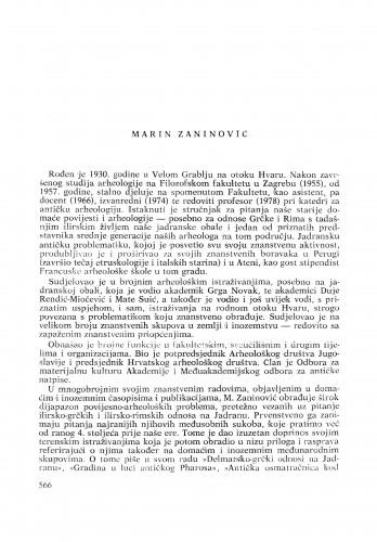 Marin Zaninović : [biografije novih članova Akademije]