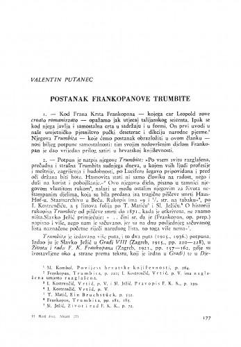 Postanak Frankopanove Trumbite