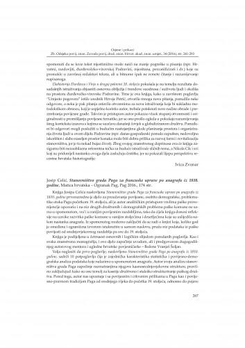 Josip Celić, Stanovništvo grada Paga za francuske uprave po anagrafu iz 1810. godine, Matica hrvatska - Ogranak Pag, Pag 2016. : [prikaz]