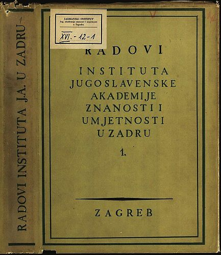 Radovi Instituta Jugoslavenske akademije znanosti i umjetnosti u Zadru