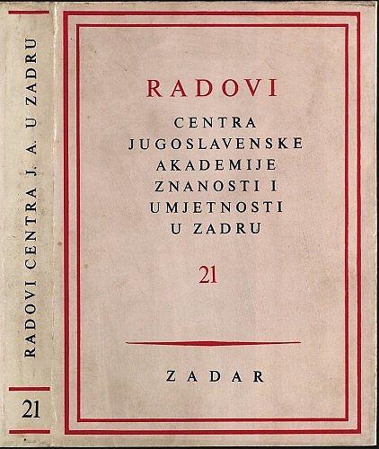 Radovi Centra Jugoslavenske akademije znanosti i umjetnosti u Zadru