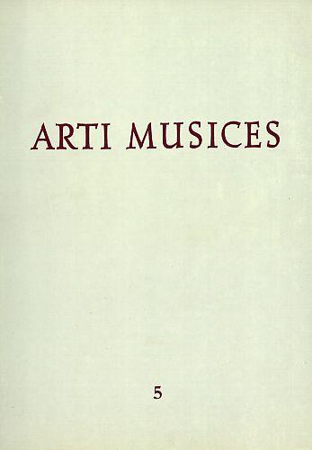 God. 5(1974) : Arti musices
