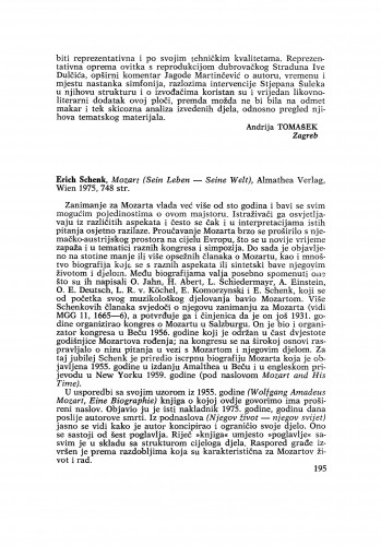 Erich Schenk: Mozart (Sein Leben – Seine Welt)