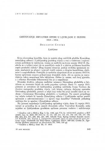 Gostovanje Hrvatske opere u Ljubljani u sezoni 1913-1914.