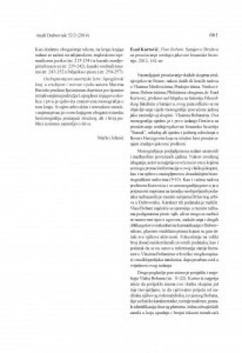 Esad Kurtović, Vlasi Bobani. Sarajevo: Društvo za proučavanje srednjovjekovne bosanske historije, 2012 : [prikaz] / Dženan Dautović