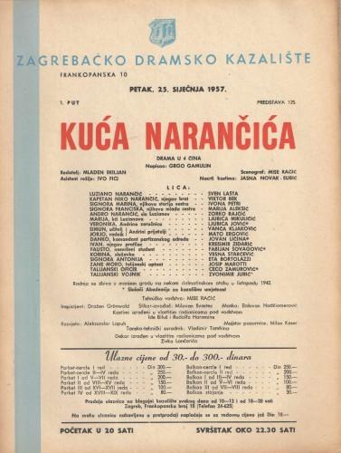 Kuća narančića Drama u 4 čina