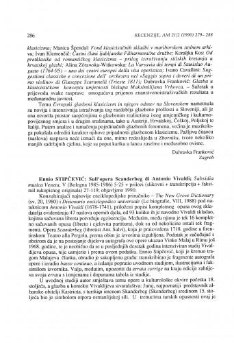 Ennio Stipčević: Sull'opera Scandberg di Antonio Vivaldi, Bologna 1985-1986 (1990)