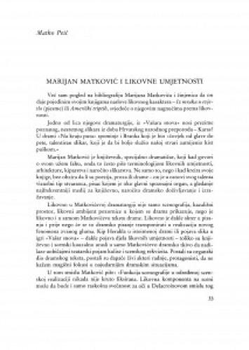 Marijan Matković i likovne umjetnosti