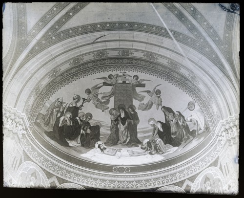 Katedrala sv. Petra (Đakovo) : Skidanje s križa / Oplakivanje Krista, freska u desnoj apsidi transepta