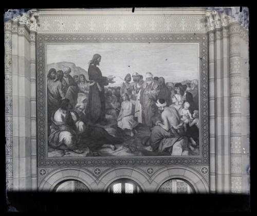 Seitz, Ludovico - Ludwig (1844) : Katedrala sv. Petra (Đakovo) : Propovijed na gori, freska u svetištu [C. Angerer & Göschl  ]