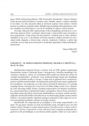 Sarajevo - 10. međunarodni simpozij