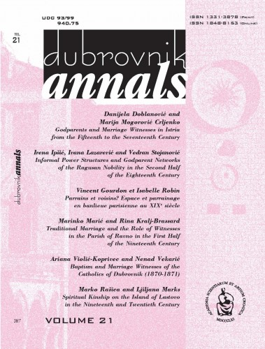 Vol. 21 (2017) : Dubrovnik Annals