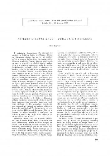 Osječki likovni krug - obilježja i refleksi