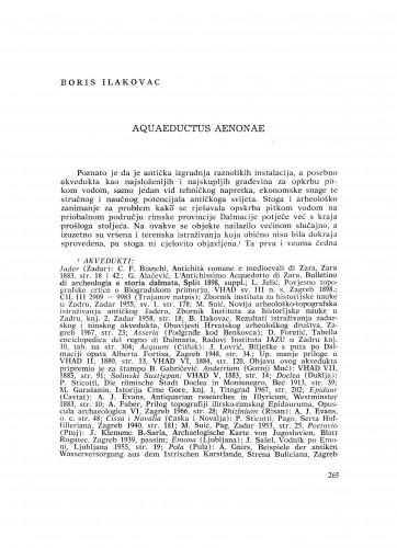 Aquaeductus Aenonae