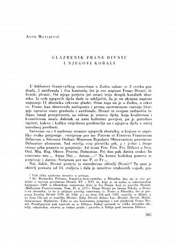 Glazbenik Frane Divnić i njegovi korali