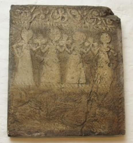 Ploča stećka s ženskim kolom