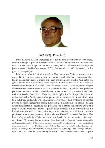 Ivan Erceg (1919.-2017.) : in memoriam / Damir Karbić