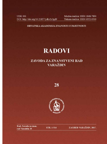 Knj. 28 (2017) : Radovi Zavoda za znanstveni rad Varaždin