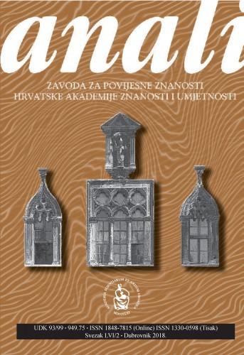 Sv. 56/2 (2018) : Anali Zavoda za povijesne znanosti Hrvatske akademije znanosti i umjetnosti u Dubrovniku