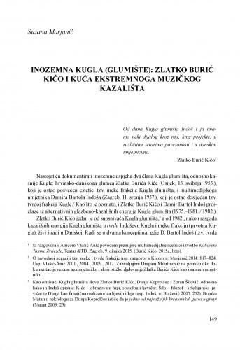 Inozemna Kugla (Glumište): Zlatko Burić Kićo i Kuća ekstremnoga muzičkog kazališta