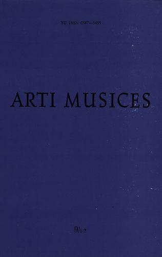 God. 9(1978), br. 1-2 : Arti musices