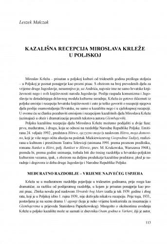 Kazališna recepcija Miroslava Krleže u Poljskoj