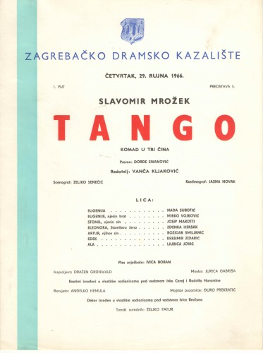 Tango : Komad u tri čina