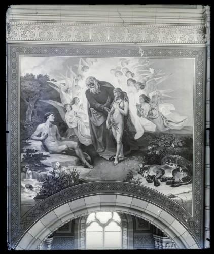 Katedrala sv. Petra (Đakovo) : Stvaranje Eve, freska u brodu