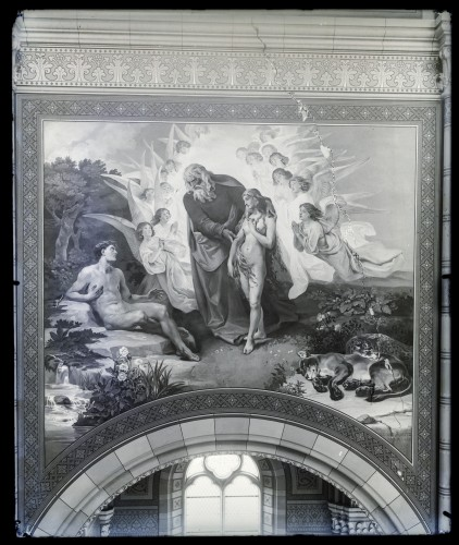Seitz, Ludovico - Ludwig (1844) : Katedrala sv. Petra (Đakovo) : Stvaranje Eve, freska u brodu [C. Angerer & Göschl  ]
