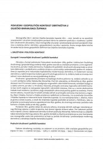 Povijesni i geopolitički kontekst obrtništva u Osječko-baranjskoj županiji