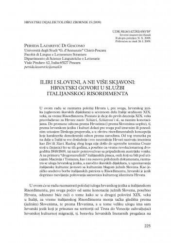 Iliri i Sloveni, a ne više Skjavoni: hrvatski govori u službi italijanskog Risorđimenta
