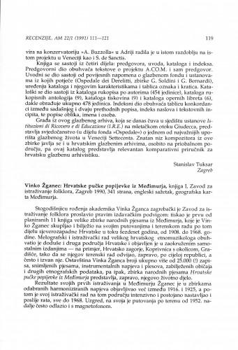 Žganec, Vinko: Hrvatske pučke popijevke iz Međimurja, knjiga 1, Zagreb, 1990