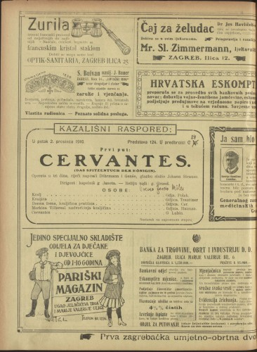 Cervantes Opereta u tri čina  =  Das Spitzentuch der Königin