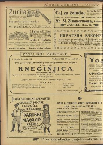 Kneginjica Opereta u 2 čina s predigrom  =  Das Fürstenkind