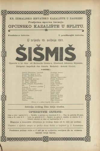 Šišmiš Opereta u tri čina