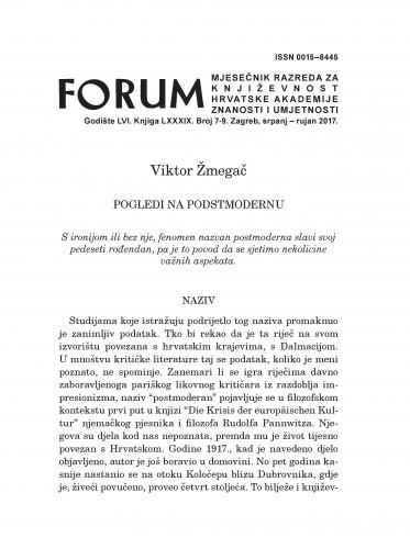 Pogledi na postmodernu