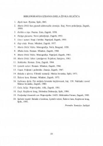 Bibliografija izdanja djela Živka Jeličića