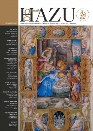 Godina II., broj 3-4., siječanj-prosinac 2015. : Glasnik HAZU : časopis Hrvatske akademije znanosti i umjetnosti