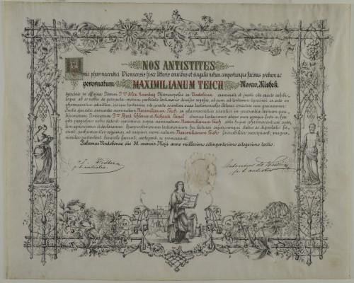 Tirocinijska diploma Maximiliana Teicha