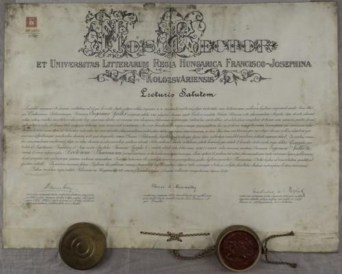 Diploma doktora farmacije Eugena Spillera