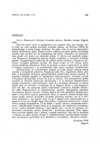"""Lovro Županović: """"Stoljeća hrvatske glazbe"""""""