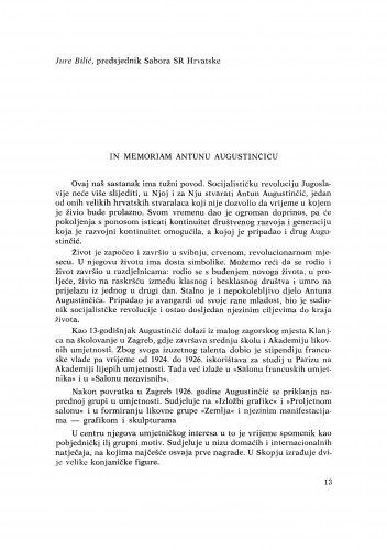 In memoriam Antunu Augustinčiću
