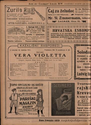 Vera Violetta Opereta u jednom činu  =  Il perfetto amore